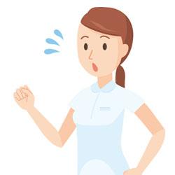 看護士の女性で姿勢が悪くなる原因の動作